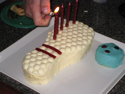 Bowling Party cake